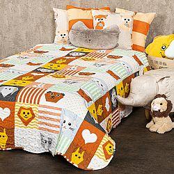 4Home Detský prehoz na posteľ Patchwork, 140 x 200 cm