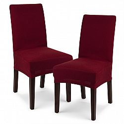 4Home Multielastický poťah na stoličku Comfort bordó, 40 - 50 cm, sada 2 ks
