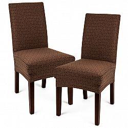 4Home Multielastický poťah na stoličku Comfort Plus hnedá, 40 - 50 cm, sada 2 ks