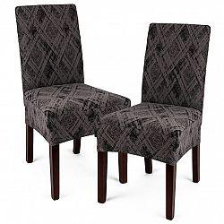 4Home Multielastický poťah na stoličku Comfort Plus sivá , 40 - 50 cm, sada 2 ks