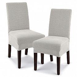 4home Multielastický poťah na stoličku Comfort smotanová, 40 - 50 cm, sada 2 ks