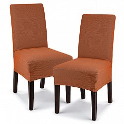 4home Multielastický poťah na stoličku Comfort terracotta, 40 - 50 cm, sada 2 ks