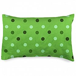 4home Obliečka na vankúšik Bodky zelená, 50 x 70 cm