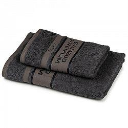 4Home Sada Bamboo Premium osuška a uterák tmavosivá, 70 x 140 cm, 50 x 100 cm