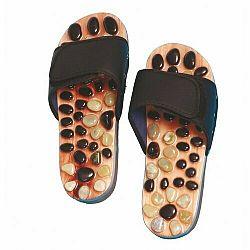 Akupresúrne masážne papuče s prírodnými kameňmi veľ. L, SJH 314B