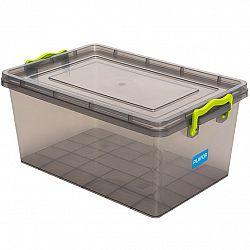 Aldotrade Plastový úložný box 15,5 l, sivá
