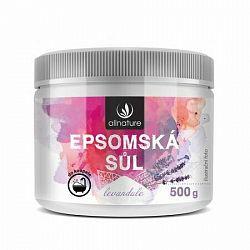 Allnature Epsom Salt Lavender kúpeľová soľ 500 g