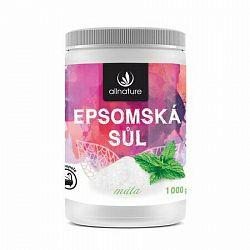 Allnature epsomská soľ Mäta 1000 g