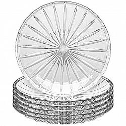 Altom Sada plytkých sklenených talířů Venus 25 cm, 6 ks