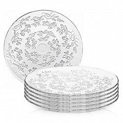 Altom Sada sklenených tanierov Flora 24,5 cm, 6 ks
