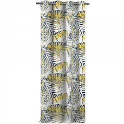 AmeliaHome Záves Blackout Palm Leaves žltá, 140 x 245 cm