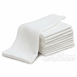 Babymatex Bavlnené plienky biela, sada 3 ks, 70 x 80 cm