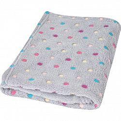 Babymatex Detská deka Milly bodka sivá, 75 x 100 cm