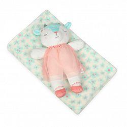 Babymatex Detská deka zelená s plyšákom ovečka, 75 x 100 cm