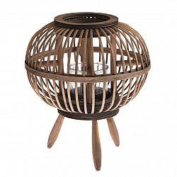 Bambusový lampáš so sklom Horta, 23 x 26 x 23 cm