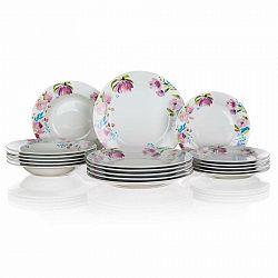Banquet 18-dielna jedálenská súprava Pink Flowers