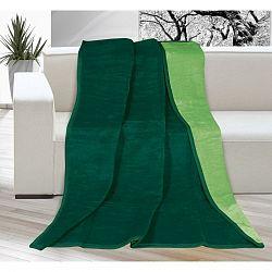 Bellatex Deka Kira tmavo zelená/zelená, 150 x 200 cm