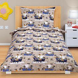 Bellatex Detské bavlnené obliečky Junior Námorník, 140 x 200 cm, 70 x 90 cm