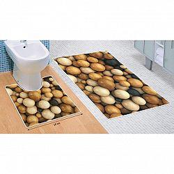 Bellatex Sada kúpeľňových predložiek Drevené gule 3D, 60 x 100 cm, 50 x 60 cm