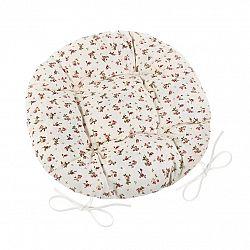 Bellatex Sedák Adéla okrúhly prešívaný Ružička, 40 cm