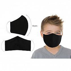 Bellatex Ústne bavlnené rúško UNI čierna - deti do 12 rokov, S