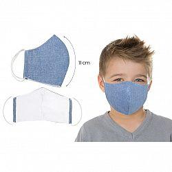 Bellatex Ústne bavlnené rúško UNI modrá - deti do 12 rokov, S