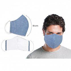 Bellatex Ústne bavlnené rúško UNI modrá - veľké, modrá, XL