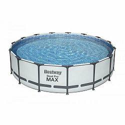 Bestway Nadzemný bazén Steel Pro MAX s filtráciou, schodíkmi a plachtou, pr. 457 cm, v. 107 cm