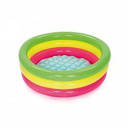 Bestway Nafukovací bazénik ružovo-žlto-zelená, pr. 70 cm, v. 24 cm