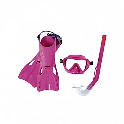 Bestway Šnorchlovací set Lil Flapper- plutvy, okuliare, šnorchel, ružová
