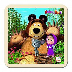 Bino Puzzle Máša, medveď a maliny, 15 x 15 cm