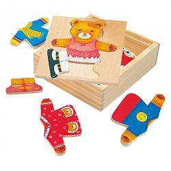Bino Puzzle šatníková skriňa Medvedica