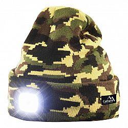 Cattara Čiapka s LED svietidlom Army, zelená