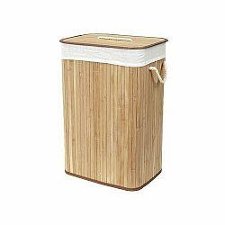 Compactor Kôš na špinavú bielizeň Bamboo hranatý, prírodná