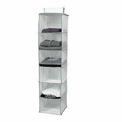 Compactor Závesný organizér do skrine NEOTEX, 15 x 30 x 128 cm