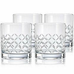 Crystalex CXBR778 4-dielna sada pohárov na whisky, 280 ml