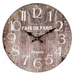 Dakls Nástenné hodiny Wood hnedá, pr. 34 cm