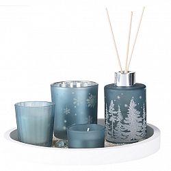 Darčeková sada sviečok a difuzéra Fragranza 5 ks, modrá