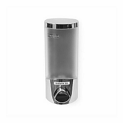 Dávkovač Compactor UNO mýdla / šampónu na zeď, chrom plast, 360 ml RAN6014