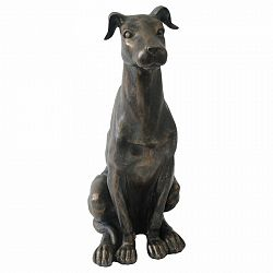 Dekorácia sediaci pes, 20 x 34 cm