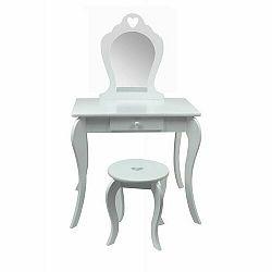 Detský toaletný kozmetický stolík s bezpečným zrkadlom Elza, 71 x 50 x 108 cm