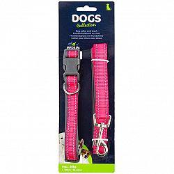 Dogs Obojok pre psa s vodítkom vel. small,