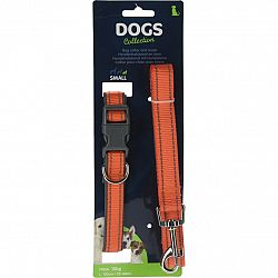Dogs Obojok pre psa s vodítkom veľ. small, oranžová