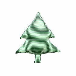 Domarex Tvarovaný vankúšik Smrčok zelené prúžky, 40 cm