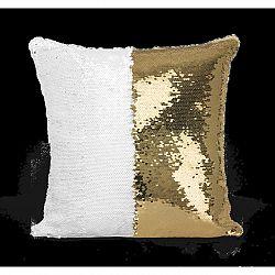 Domarex Vankúšik s flitrami Flippy zlatá, 40 x 40 cm