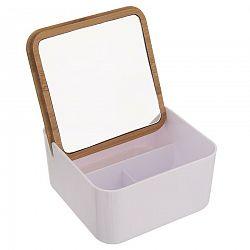 Dóza plast/bambus kozmetická+zrkadlo WHITNEY ORION