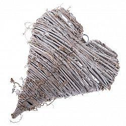 Drevená závesná dekorácia Srdce, 20 x 25 x 6 cm