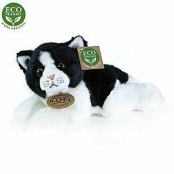Eco-Friendly Rappa mačka bielo-čierna ležiaca 16 cm