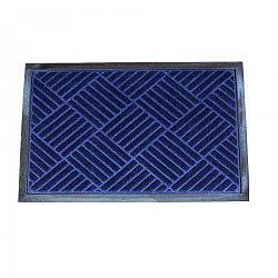 FAVE Gumová rohožka Checker modrá, 40 x 60 cm