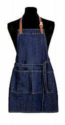 Forbyt Detská zástera Jeans tmavomodrá, 50 x 70 cm